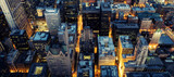 Aerial view of Chicago by night - 231465627