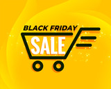 black friday shopping cart sale background - 231466034