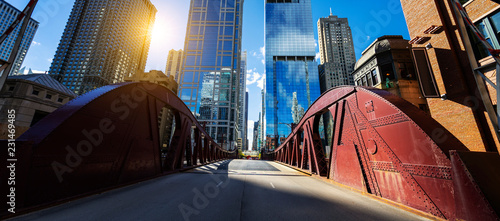 Chicago downtown bridge and buiding - 231469485