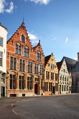 Old street in Bruges. Belgium