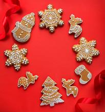 "Постер, картина, фотообои ""Christmas holidays ornament flat lay; Christmas card background"""