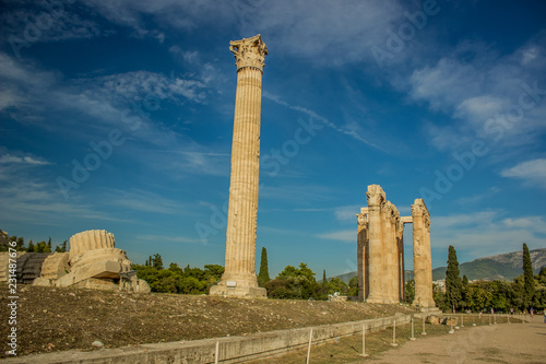 antique columns ruins of ancient temple heritage object in outdoor museum space
