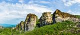 The Monastery of Great Meteoron. Monasteries on the top of rock in summer day in Meteora, Greece.