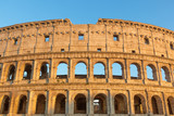 Front view of the Colosseum in sunset light. Rome Italy. Horizontally