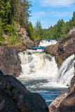 Kivach Falls in Kivach State Nature Reserve in summer, Republic of Karelia, Russia