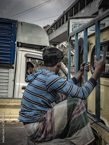 fototapeta na ścianę City Life In Bangladesh On December 12, 2015