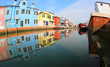 Colored Houses in Burano Island near Venice in Itay