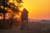 hunting tower in the light of the setting sun - 231513467