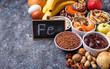 Leinwandbild Motiv Healthy product sources of iron