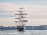 Tall ship at anchor - 231526037