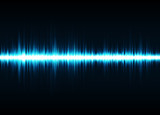 Sound waves oscillating glow light. Abstract technology background. Vector illustration eps 10. - 231531229
