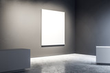Gallery with empty poster - 231532028