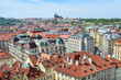 Leinwanddruck Bild - View of red roofs of Prague