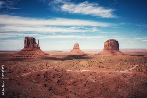 Vintage view of Monument Valley, Arizona and Utah, United States - 231535872