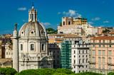 Colonna Traiana and Chiesa del Santissimo Nome di Maria al Foro Traiano in Rome - 231538049