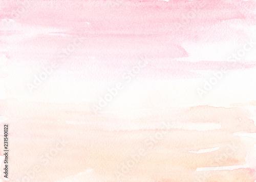 Różowa beżowa akwarela tło