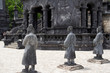 ancient statues in Khai Dinh tomb in Hue