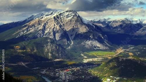 Wall mural Closeup panoramic view of mountains