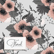 Trendy Seamless Floral Pattern in Vector illustration - 231559423