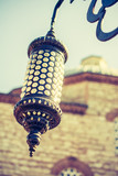 Old  retro electric street lamps made of metal style - 231567872
