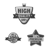 Vector design of emblem and badge logo. Collection of emblem and sticker vector icon for stock. - 231580296