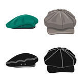Isolated object of headgear and cap logo. Collection of headgear and accessory stock symbol for web. - 231584827