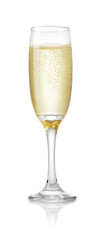 glass of champagne isolated on white background © Pineapple studio