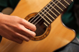 Detail of a classical guitar player - 231595697