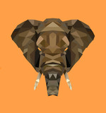 Low poly elephant illustration - 231600676