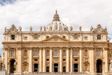 People, tourists, pilgrims at St Peter's basilica in Vatican - 231603674