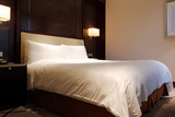 Standard modern hotel room with king size bed - 231607892