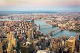 Aerial view of Brooklyn and Manhattan bridges - 231609220
