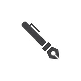 Ink fountain pen vector icon. filled flat sign for mobile concept and web design. Writing simple solid icon. Symbol, logo illustration. Pixel perfect vector graphics - 231625032