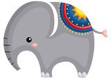 a cute and adorable elephant standing up - 231627006