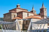 Baroque church and modern bridge. Cangas del Narcea. Spain - 231638228