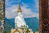 White buddha in Wat Phra That Pha Son Kaew temple at Phetchabun Thailand - 231646084