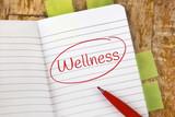 Eintrag im Notizbuch: Wellness - 231649459