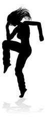 A woman street dance hip hop dancer in silhouette © Christos Georghiou
