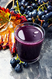 Grape drink in a glass