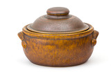 clay pot on white background - 231676631