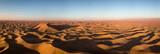 Aerial panorama in Sahara desert at sunrise - 231680209