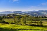 Beautiful views of the Pieniny Mountains. Poland.