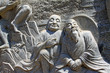 arhat sculpture in the Panshan Mountain scenic spot, china