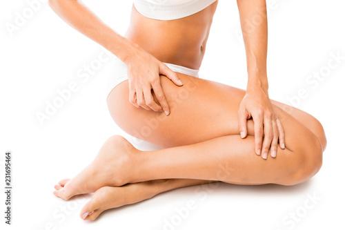 Leinwandbild Motiv Woman Feeling Her Radiant Skin