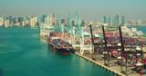 Aerial video APL Turkey at Port of Miami drone - 231698415