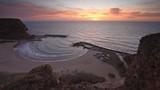 The magic bay at sunrise / Video with beautiful sunrise view of Bolata bay at the Black sea coast; Bulgaria - 231700096