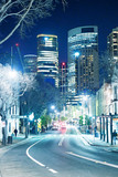SYDNEY - AUGUST 17, 2018: Night view of The Rocks district. This district is a meeting point for young people - 231700853