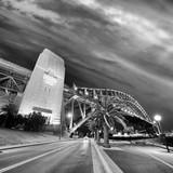 Night view of Sydney Harbor Bridge at sunset, Australia - 231701434