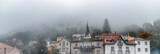 Sintra buildings surrounded by fog, Portugal - 231702209