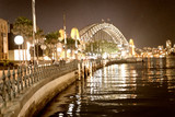 Sydney Harbor Bridge at night from Circular Quay, Australia - 231702406